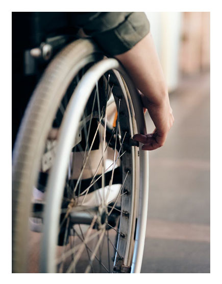 Multiple Sclerosis Patient with Wheelchair