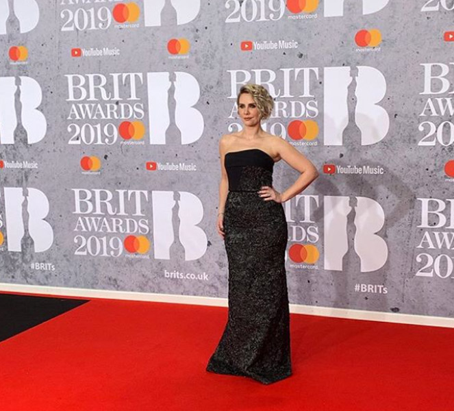 Claire Richards on the Brit Awards Red Carpet