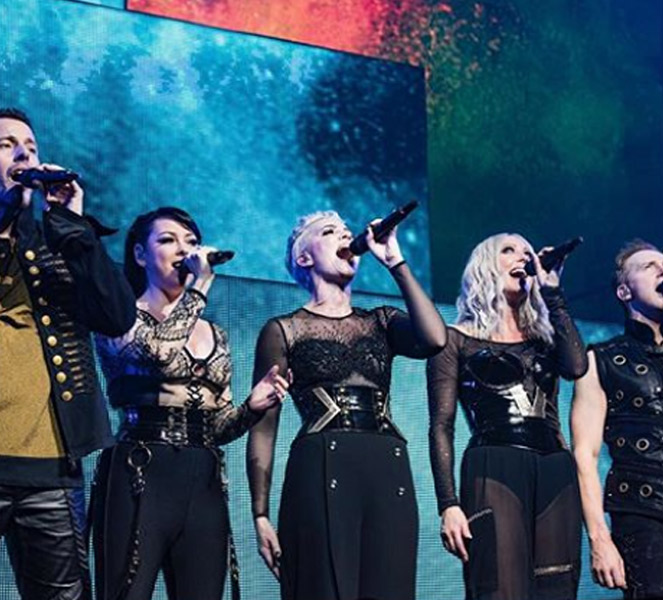 Claire Richards Performing with Band Steps