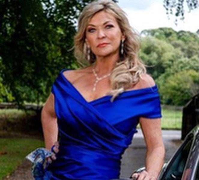 Claire King on Set