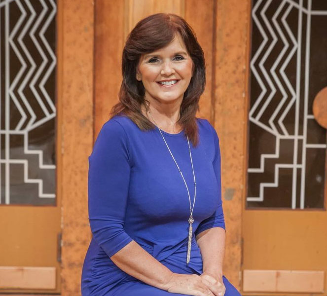 Maureen Nolan Blue Dress